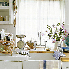 image of kitchen sink with dishes all washed