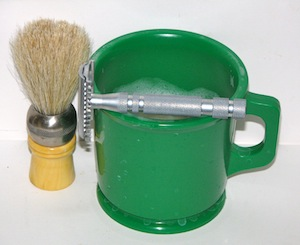 shaving mug and shaving brush