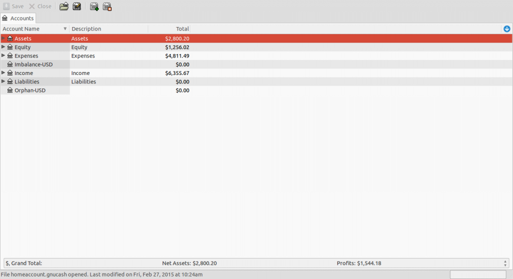 online banking sample