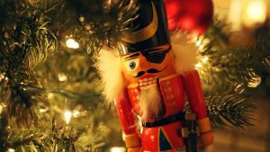 closeup of christmas nutcracker