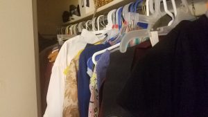So many clothes. We need to organize it better.